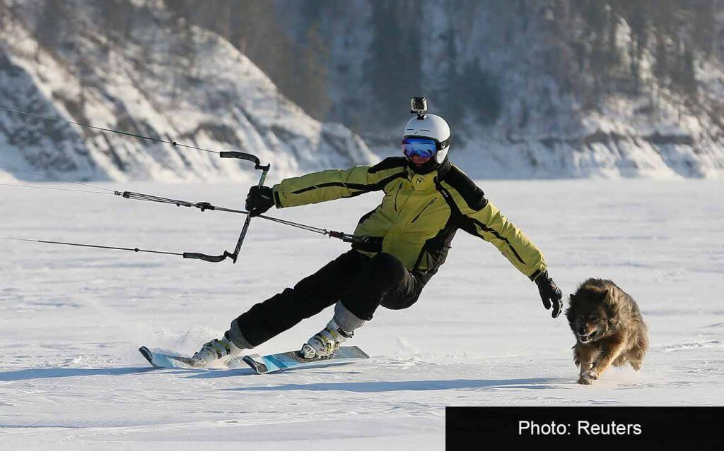 Лыжник на Енисее