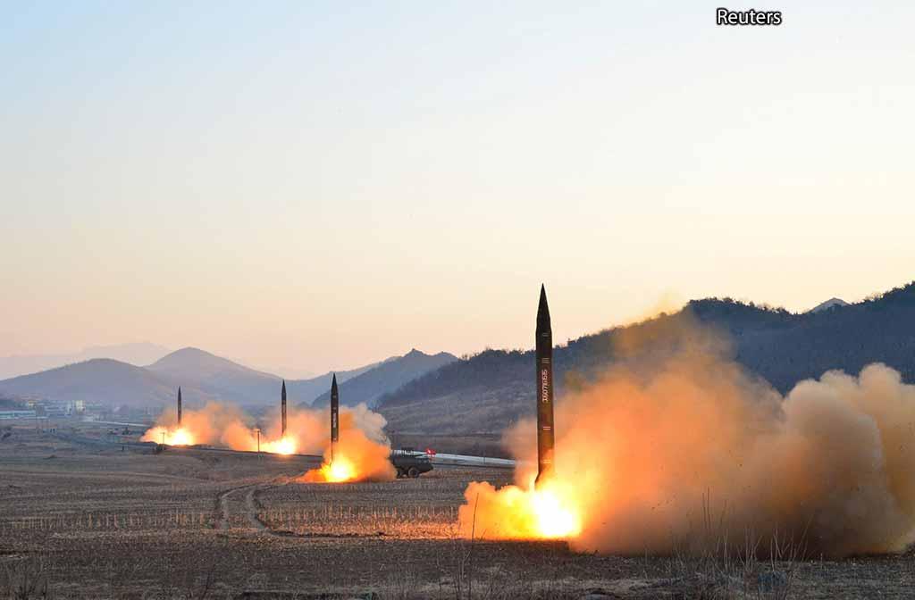 Запуск ракет в Сев. Корее