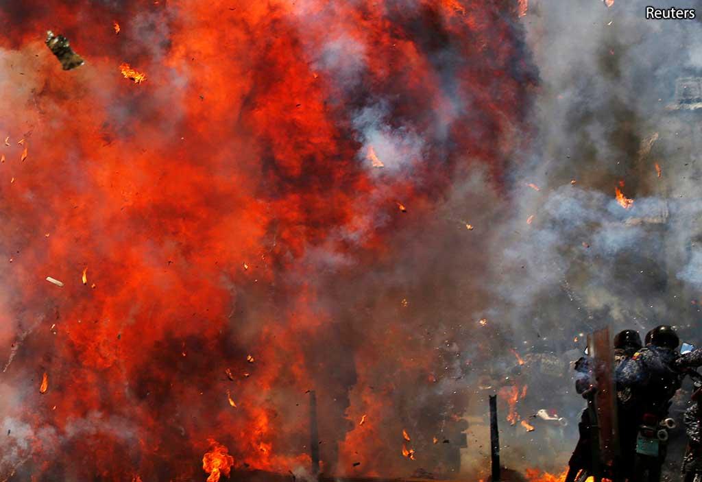 демонстрация в Венесуэле