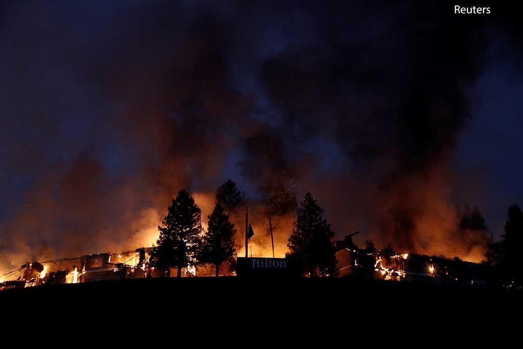 пожар, Клифорния